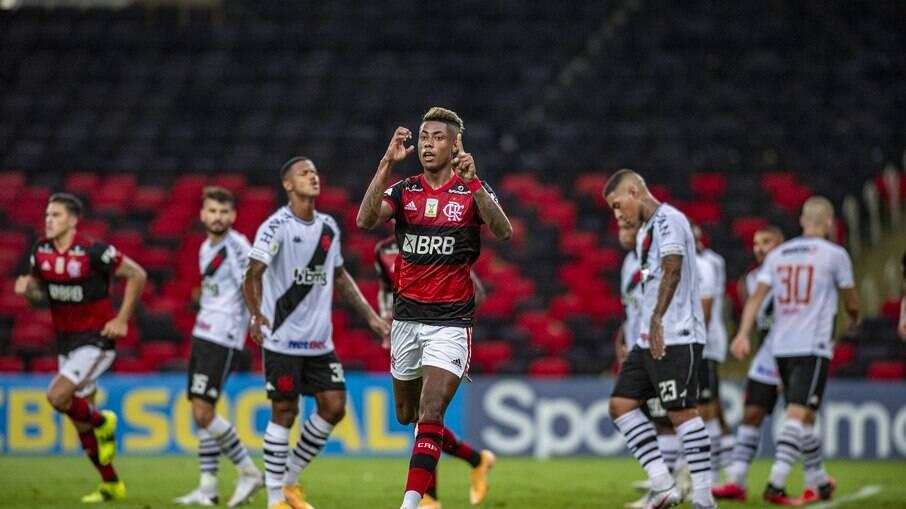 Flamengo venceu o clássico contra o Vasco na noite de ontem