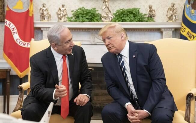 Trump e Netanyahu se reuniram na Casa Branca