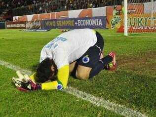 Fábio, no jogo contra o Vitória, que consagrou o Cruzeiro campeão brasileiro em 2013