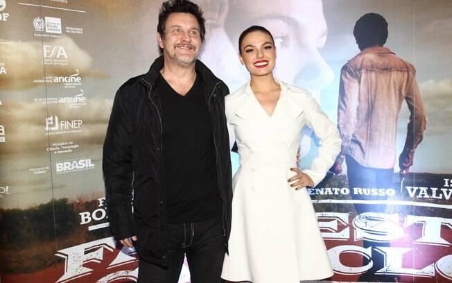 Antônio Calloni e Isis Valverde na pré-estreia do filme 'Faroeste Caboclo', em São Paulo