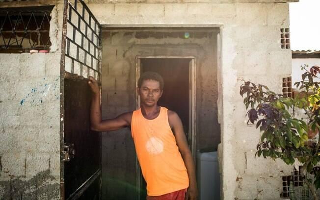 Antônio Tranquilino, morador da comunidade