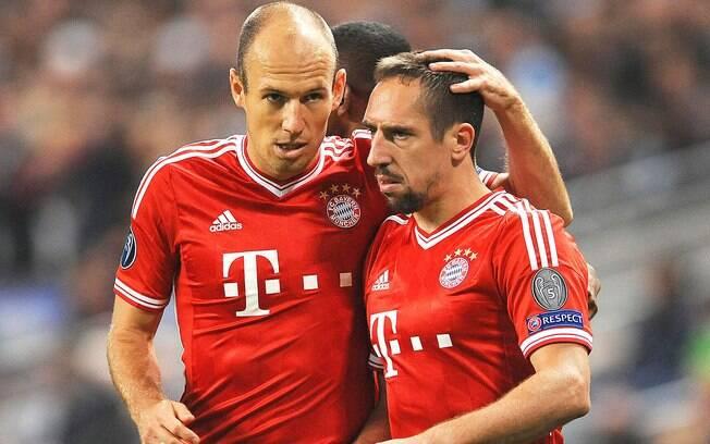 Robben e Ribéry formaram uma dupla sem tatuagem no Bayern
