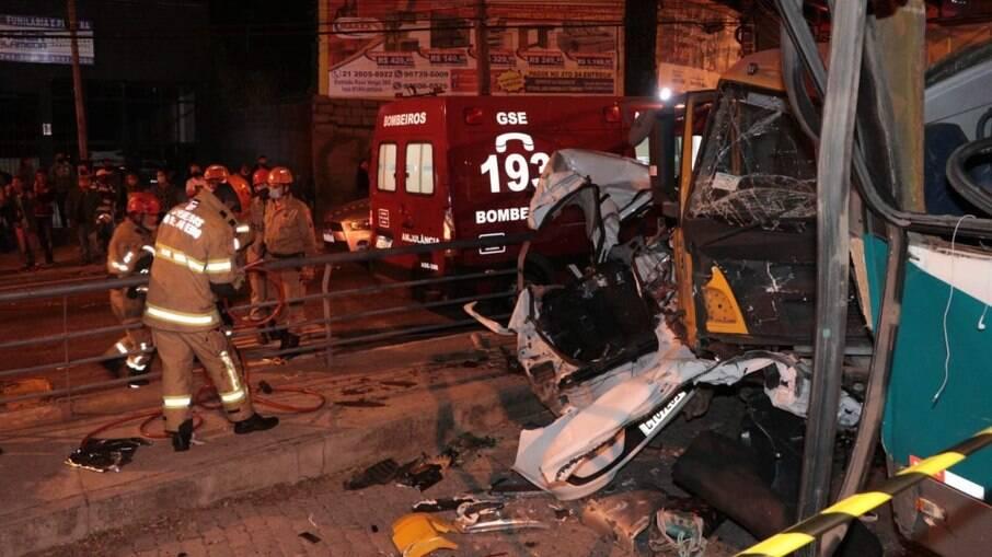 Acidente aconteceu na Alameda São Boa Ventura, em Niterói