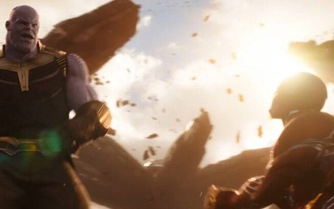 Thanos contra Homem de Ferro em Guerra Infinita