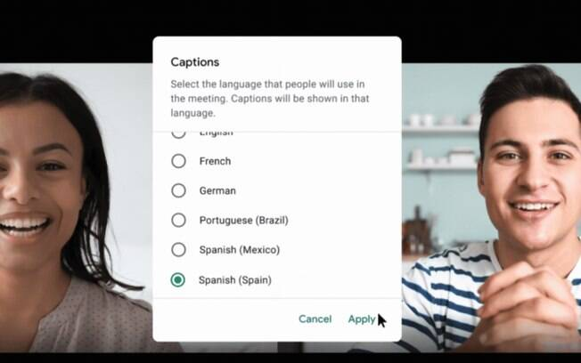 Google Meet ter legendas ao vivo em portugus e espanhol