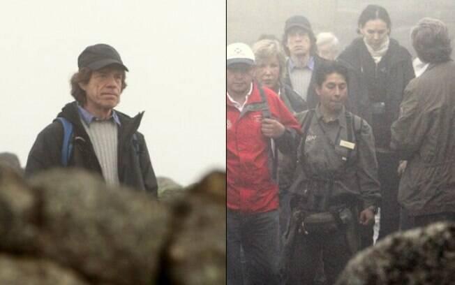 Mick Jagger passeia em Machu Picchu