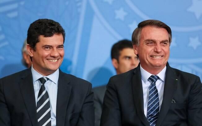 Jair Bolsonaro e Sergio Moro podem formar chapa para as eleições presidenciais de 2022.