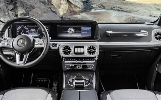 Primeiro teaser do Classe G revela um interior bem mais luxuoso, com diversos itens de outros carros da Mercedes