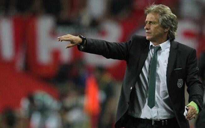 Jorge Jesus quando ainda comandava o Benfica