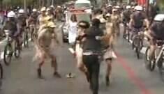 Homem invade comboio da tocha e agride soldados na Grande SP