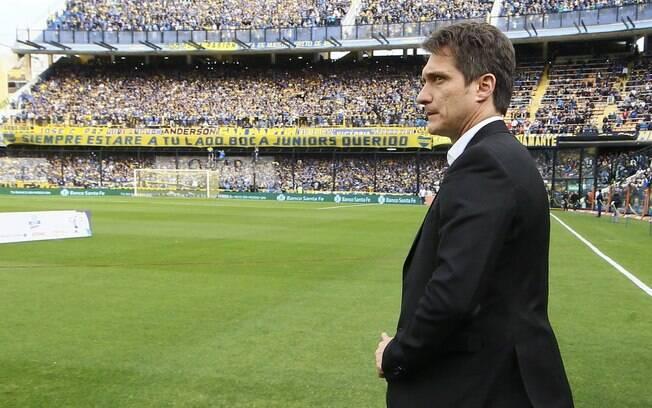 Guillermo Schelotto não comandará o Boca contra o Palmeiras