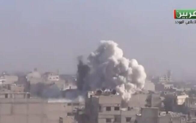 Região de Ghouta Oriental registrou ataque de tropas do governo da Síria neste domingo, com 5 mortos e 5 feridos