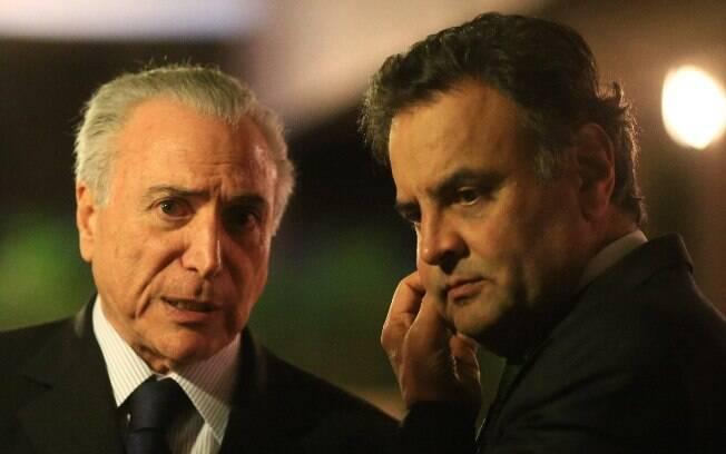 Presidente Michel Temer e o senador Aécio Neves são os principais alvos da delação dos empresários da JBS