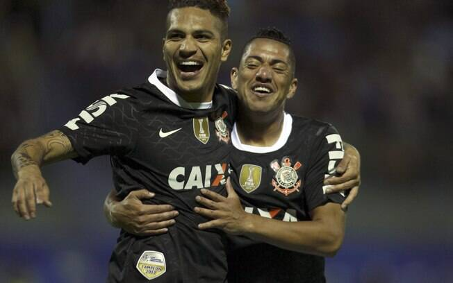 Guerrero e Ralf no Corinthians