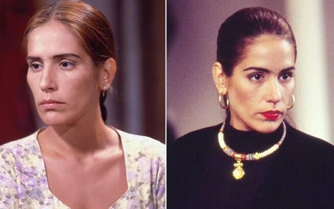 Glória Pires como Ruth e Raquel, as gêmeas de