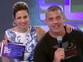 Alexandre Frota e Luciana Gimenez no 'SuperPop', na RedeTV!