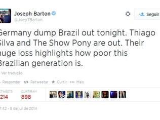Meio-campista inglês acredita que Alemanha vai eliminar o Brasil no Mineirão