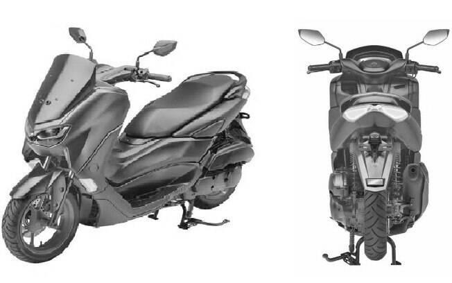 A foto é o único registro sobre a nova Yamaha NMax, publicado na Ásia