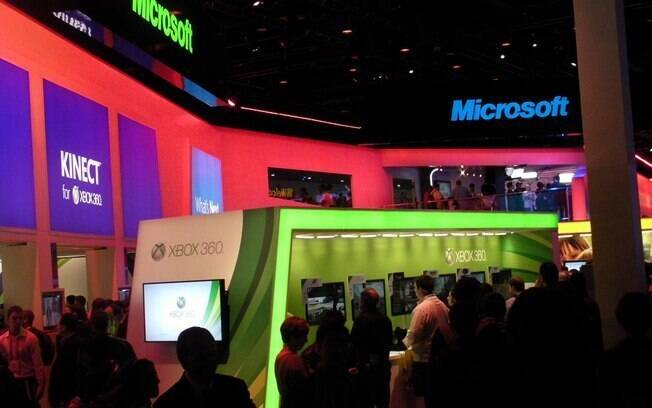 Estande da Microsoft: última participação na feira promove Xbox, Windows 8 e Windows Phone