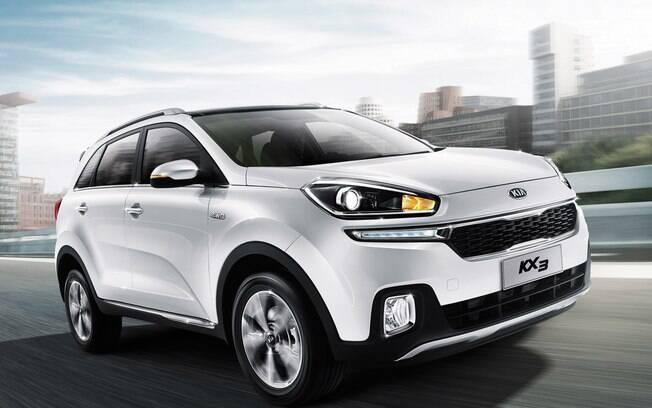 Cotado para o Brasil, o Kia KX3 é um utilitário compacto com o mesmo porte que o Ford EcoSport e Honda HR-V.