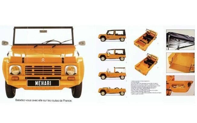 Pesando apenas 525 kg, devido a sua carroceria de plástico, o Méhari não sofre com corrosão como outros carros