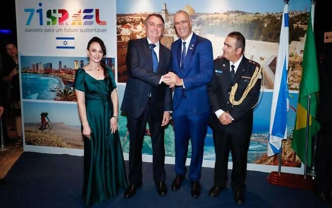 Bolsonaro recebeu uma plana na comemoração dos 71 anos da criação do Estado de Israel