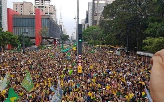 Na paulista ,eleitores se reuniram em protesto pró-Bolsonaro em São Paulo