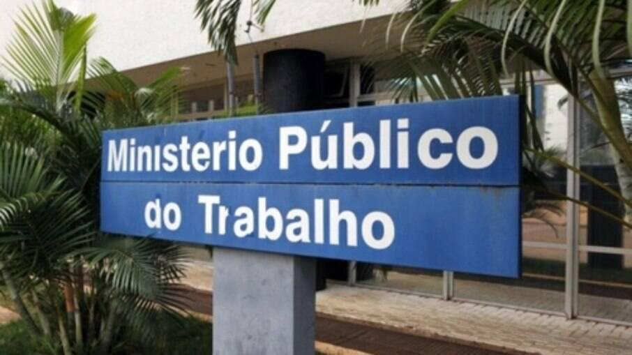Área na entrada do Ministério Público do Trabalho