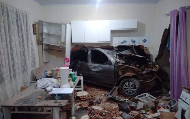 Acidente em Pitanga, registrado pela PM na manhã de hoje