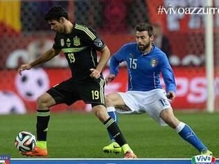 Com a camisa 19, Diego Costa atuou diante da Azurra, mas passou em branco