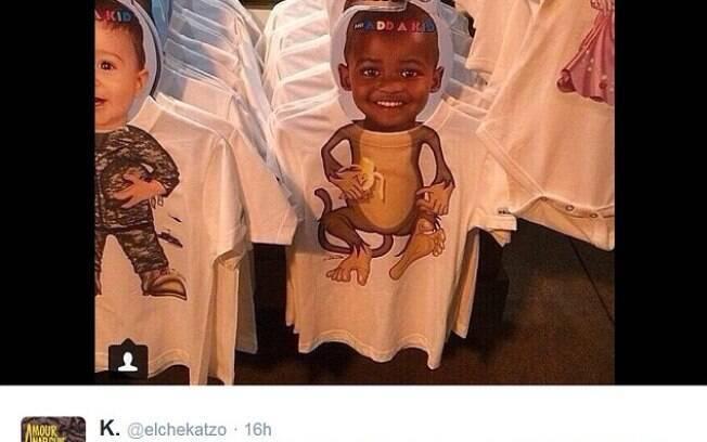 Internautas acusaram marca de roupas infantis de racismo e a empresa recolheu o produto