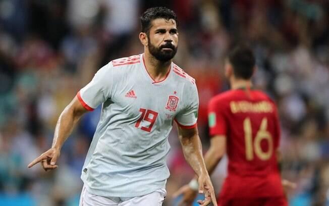 Diego Costa é centroavante do Atlético de Madrid e da seleção espanhola