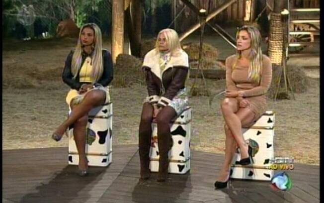 Joana, Monique e Valesca enfrentam a Roça