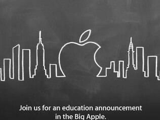Convite da Apple para evento na semana que vem