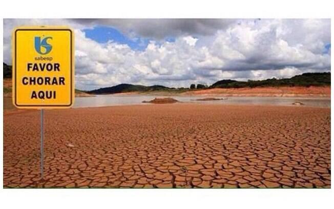 Meme brinca com a tristeza dos eleitores de Aécio Neves, que podem chorar na Cantareira (que está precisando de bastante água, por sinal). Foto: Reprodução