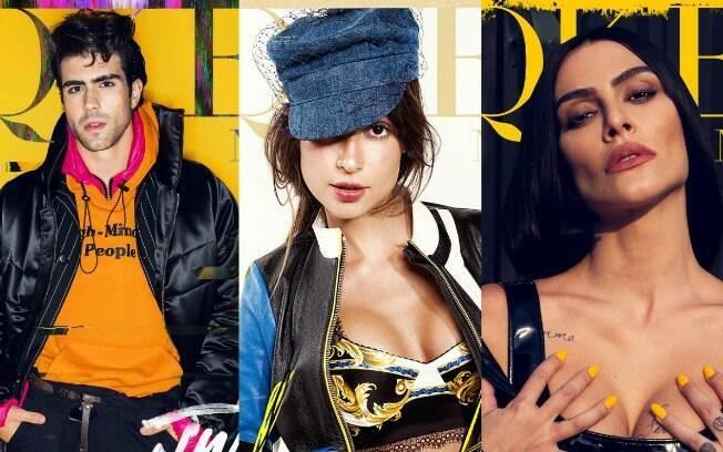 Felipe Nolohan, Thaila Ayala e Cleo Pires posam para a capa da Dekquer Nation
