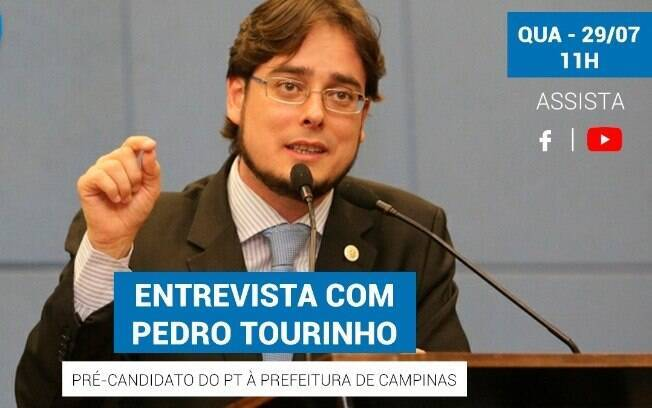Pedro Tourinho será o primeiro entrevistado em série de lives.