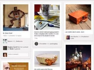 Pinterest permite criar murais de fotos e avaliar imagens de amigos