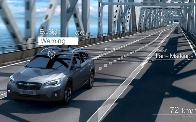 Aviso de permanência de faixa: esse é mais um dos itens opcionais do Jeep Compass e que está disponível no Subaru