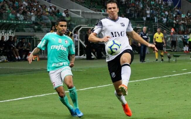 O Palmeiras venceu o Ceará por 1 a 0