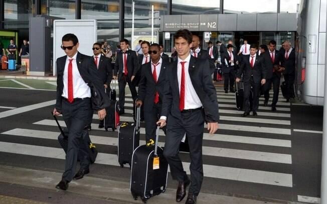Delegação do São Paulo chegou na noite de  domingo (horário de Brasília) ao Japão para a Copa  Suruga (04/08)