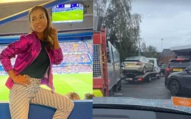 Belle Silva mostra perrengue para abastecer o carro