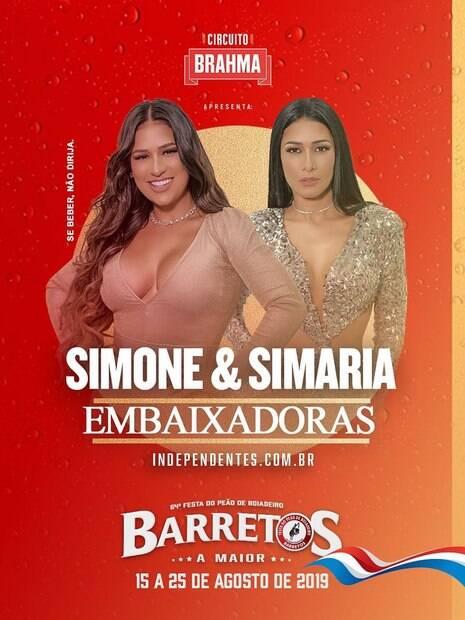 Simone e Simaria embaixadoras do Rodeio de Barretos
