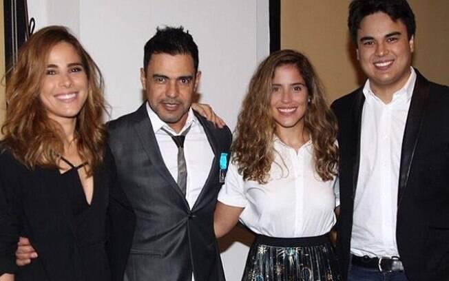 Filhas de Zezé di Camargo e família geram mal estar em evento por não saírem em fotos com  Graciele Lacerda