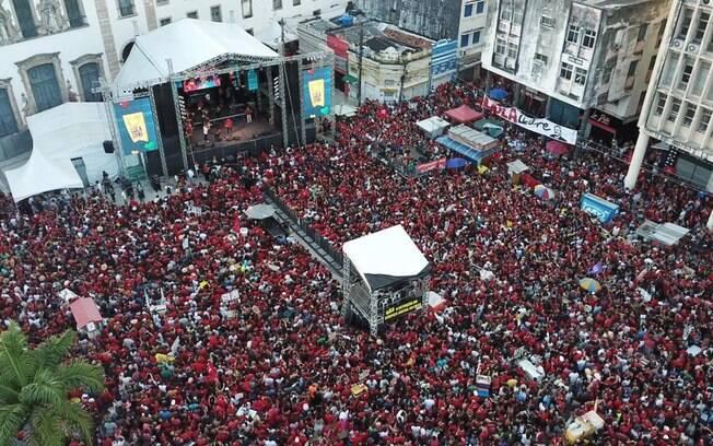 cena do Festival Lula Livre