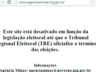 Cuidado. Governo de Minas retirou todo seu site de notícias do ar e disponibilizou atendimento