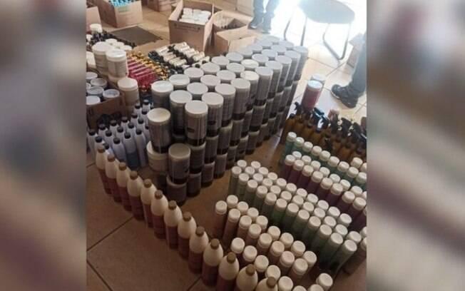Polícia encontra depósito clandestino de cosméticos e prende uma pessoa em Campinas
