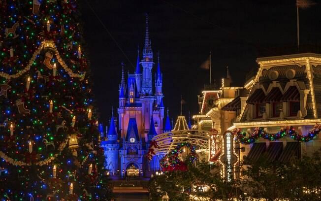 Luzes especiais da decoração de Natal