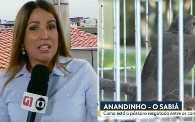 Ananda Apple e Anandinho, o passarinho estressado
