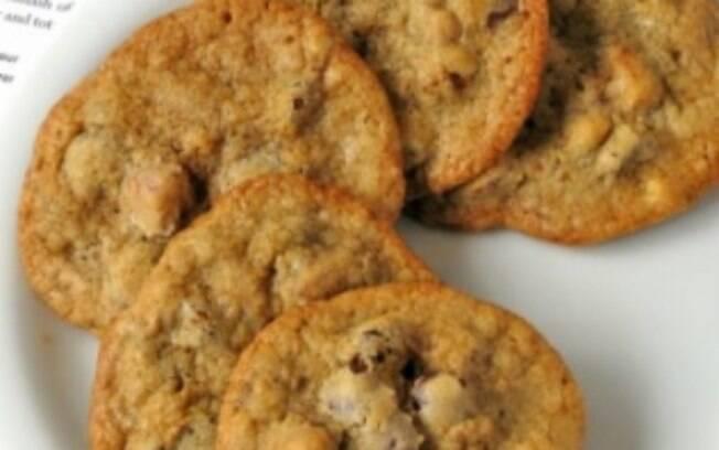 Foto da receita Choc Chip Cookies Crocantes pronta.